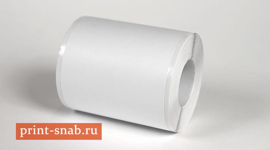 Этикет лента полуглянец, полуглянцевая лента для термотрансферной и струйной печати